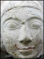 The head of a Buddha image excavated at Thoddu Island